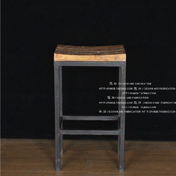 《Chair Empire》Loft風法國工業風美式鄉村做舊吧台椅 鐵藝酒吧椅 高腳椅 實木吧台凳