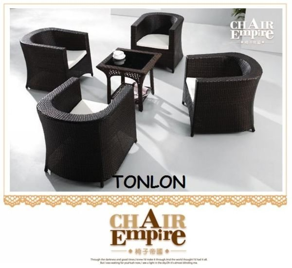 《Chair Empire》椅子帝國 南洋風歐洲風仿藤 戶外桌椅PUB椅低餐椅創意家(一桌四椅) 375+033