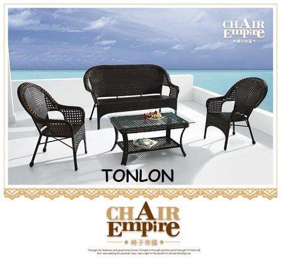 《Chair Empire》單人*2+三人+大茶几南洋風歐洲風沙發組庭院餐桌組 018沙發組休閒桌椅