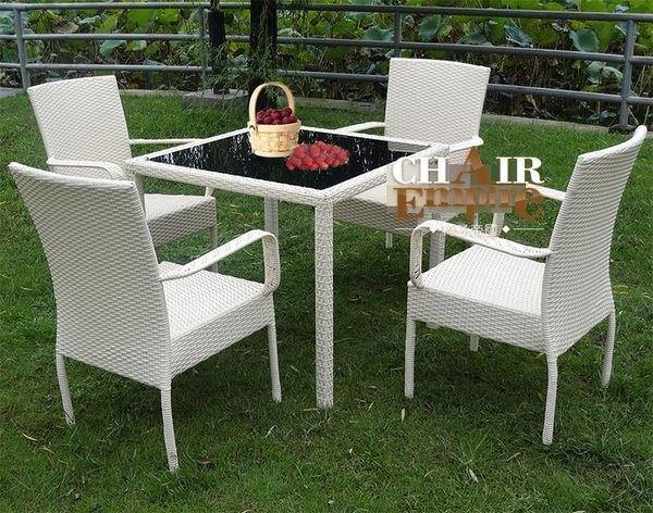 《Chair Empire》戶外家具 庭院休閒桌椅 仿藤桌椅 藤椅休閒椅陽台桌椅組 餐桌椅組