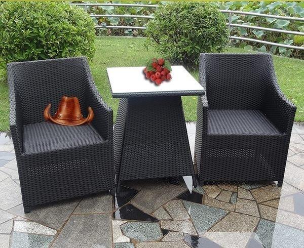《Chair Empire》一桌二椅 藤椅陽台藤編桌椅 戶外簡約沙發椅 戶外桌椅組 南洋峇厘島風格