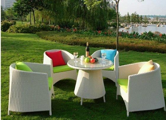《Chair Empire》『一桌四椅』戶外桌椅 陽台桌椅 藤椅子茶几組合 庭院休閒桌椅 編藤桌椅