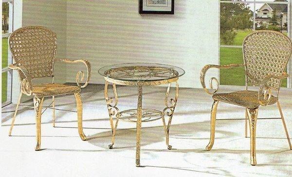 《Chair Empire》517+619 一桌二椅 戶外桌椅 藤椅休閒椅陽台 咖啡廳桌椅 露天桌椅組合 仿藤