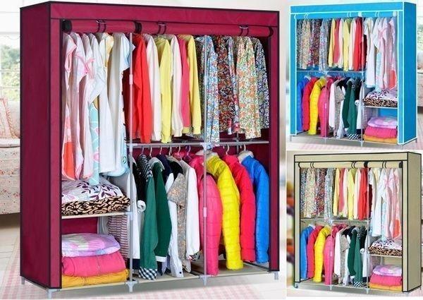 《Chair Empire》『多功能掛鉤』雙人家大版布衣櫥 簡易布衣櫥雙人加固衣櫥衣櫃 特價 三色