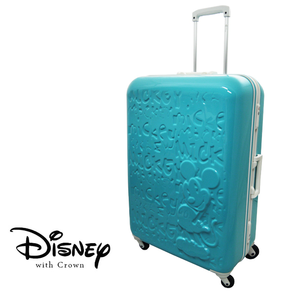 【加賀皮件】 CROWN Disney 夢想米奇 28吋白框亮面浮雕 多色 拉桿旅行箱 行李箱 登機箱 CF5036