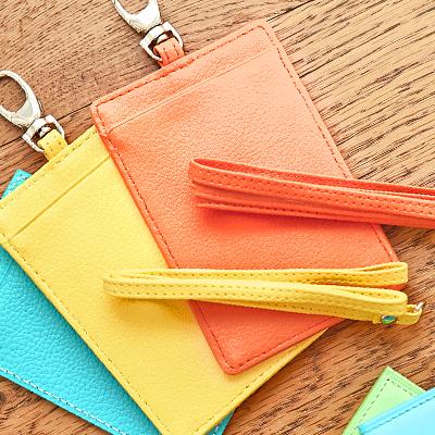 〔APM飾品〕日本 apm嚴選 亮彩暖色微笑晨光皮革證件夾 (黃色款) (橘色款)