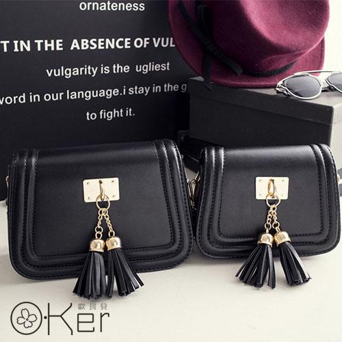 新款韓版時尚流蘇 單肩斜背小包包 O-Ker DD027