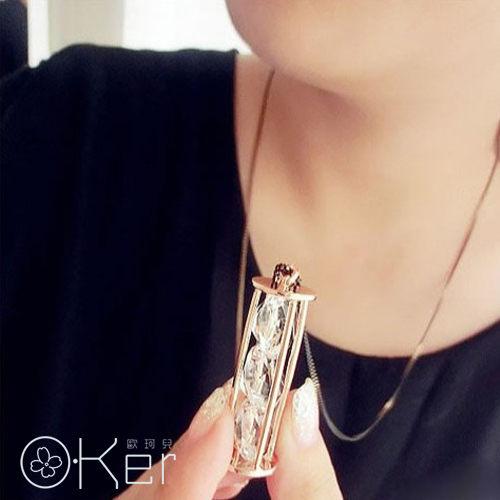 時尚簡約閃亮亮鑽石長項鍊 O-Ker KAX0381