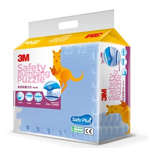 【淘氣寶寶】3M 安全防撞拼貼地墊 (32x32cmx6片) 藍色