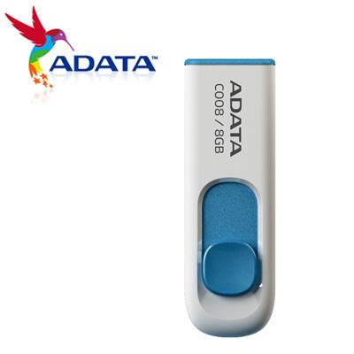 威剛 A-DATA 隨身碟 滑翔碟 8G 白 C008 / 個
