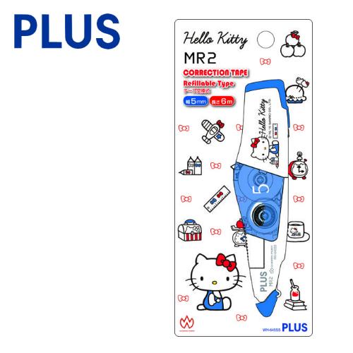 【三麗鷗限定版】PLUS 普樂士 WH-645 MR2 智慧型滾輪修正帶 ( 5mm x 6M ) 【凱蒂貓Hello Kitty】2