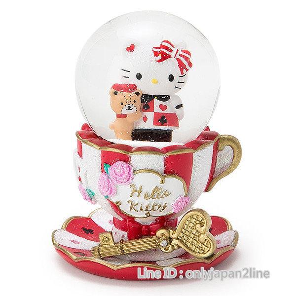 【真愛日本】16112500008耶誕雪球s-咖啡杯紅   三麗鷗 Hello Kitty 凱蒂貓   擺飾 雪球 水晶球