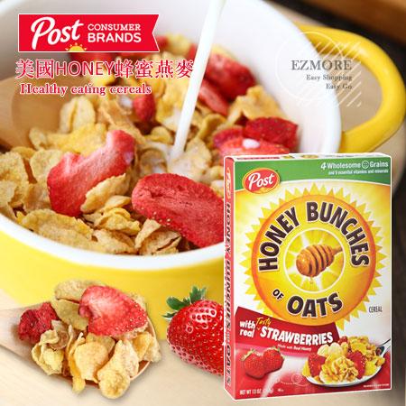 美國 Post HONEY 蜂蜜燕麥 燕麥 麥片 玉米片 穀物麥片 穀物 早餐【N101768】