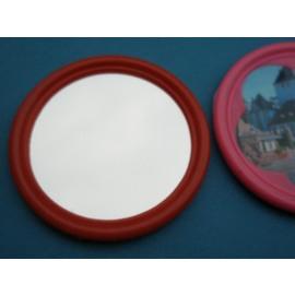 小圓鏡子.玻璃鏡子 直徑6.6cm/{定10) 一盒/ 12個入