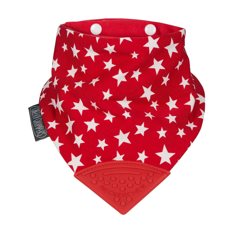【英國 Cheeky Chompers】 全世界第一個咬咬兜/ 圍兜 / 口水巾-閃耀紅星
