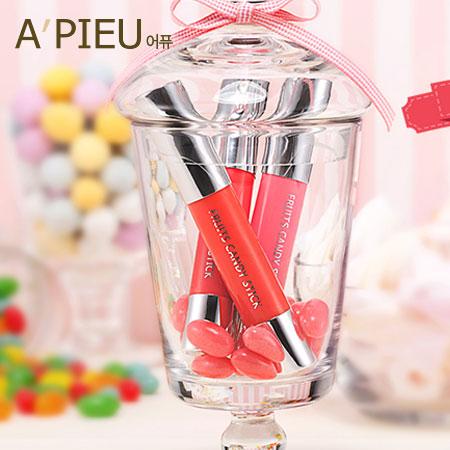韓國 A'PIEU 水果糖透潤唇彩筆(2.9g) 口紅 唇膏  A pieu APIEU 奧普【B061100】