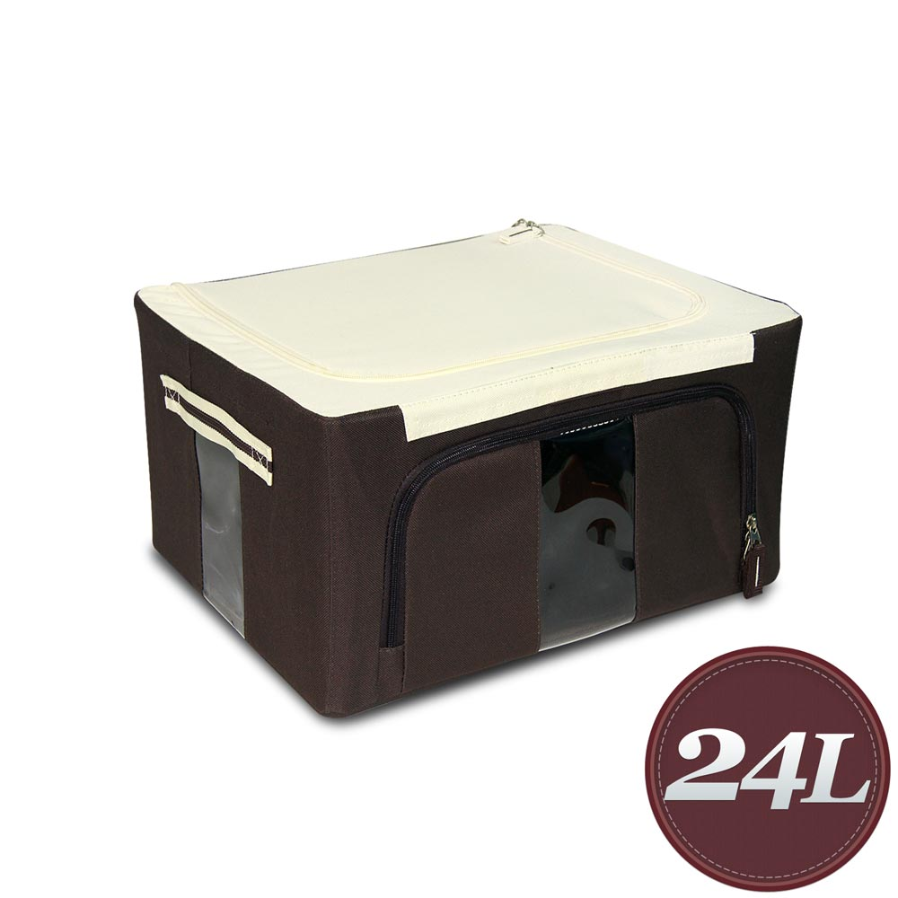 WallyFun 第三代摺疊防水收納箱24L (棕色)
