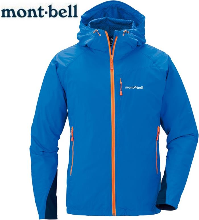 Mont-Bell 風衣外套/登山外套 防潑水保暖防風 Light Shell 男款 連帽款 1106561 PRBL藍