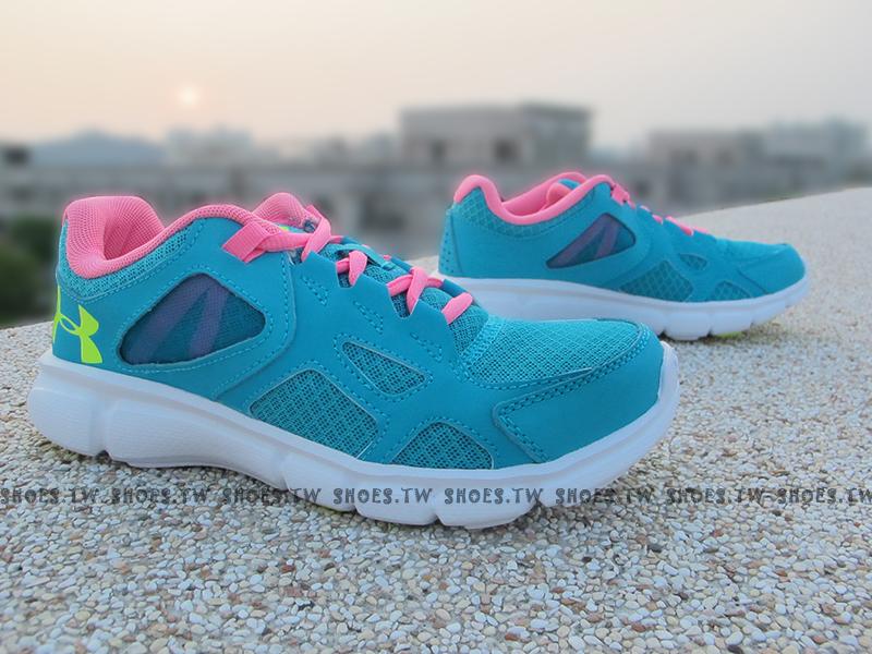下殺7折 Shoestw【1258735-478】UNDER ARMOUR Thrill 慢跑鞋 水藍桃紅 FREE 女款 訓練