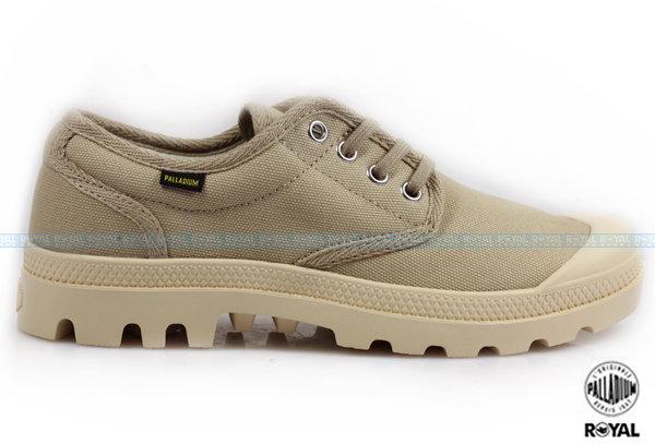Palladium 新竹皇家 PAMPA OX ORIGINALE 卡其 布質 原創經典系列 休閒鞋 低筒 男女款 NO.A8504