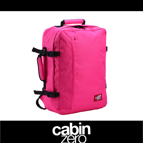 【買就送隨身腰包】CABIN ZERO 161-CZ061202 輕量44L後背包 登機 假期 公事 手提 多用途 可上密碼鎖 國際背包身分證 桃紅色 萬特戶外運動
