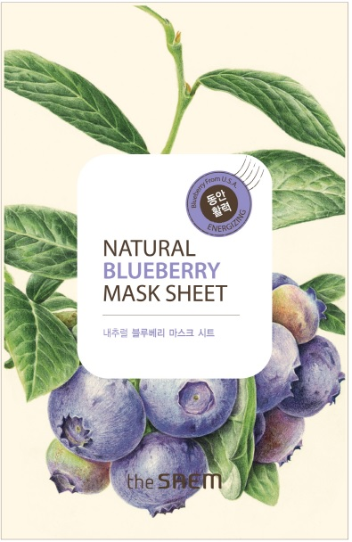 韓國the SAEM Natural 美顏藍莓面膜 21ml Natural Blueberry Mask Sheet (New)【辰湘國際】