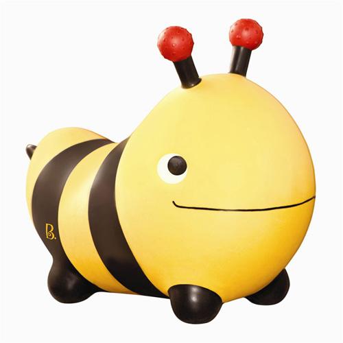 【奇買親子購物網】美國B.Toys 蜜蜂跳跳/河馬跳跳(附打氣筒)