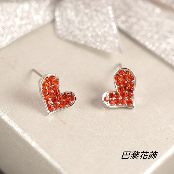 甜心蜜戀 蜜糖愛情水晶耳環【巴黎花飾】