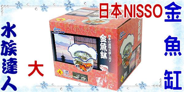 【水族達人】日本NISSO《金魚鉢.大》金魚缸 / 附NISSO水中過濾器、打氣馬達