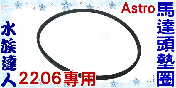 【水族達人】Astro《新款外置式圓桶過濾器2206專用馬達頭墊圈/一條》
