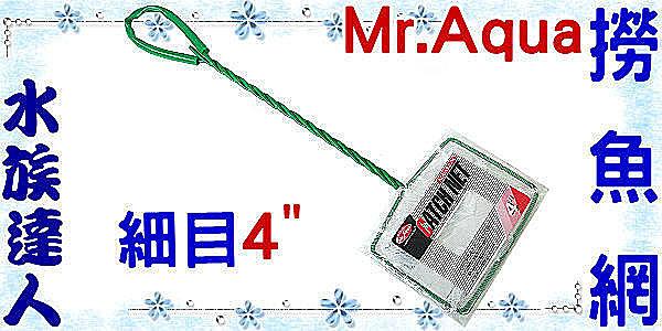 【水族達人】水族先生Mr.Aqua《CATCHNET撈魚網(細目)4吋》養魚必備品!
