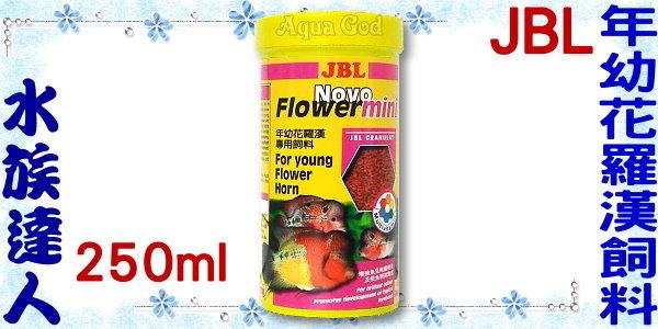 【水族達人】JBL《Novo Flower mini年幼花羅漢專用飼料(小粒)250ml》健康、營養、美味!