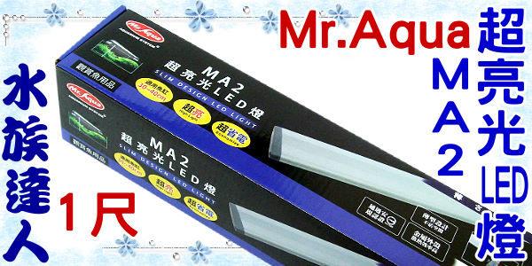 【水族達人】水族先生Mr.Aqua《MA2超亮光LED燈1尺.D-MR-321》安規認證