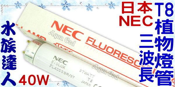 【水族達人】日本NEC《T8三波長植物燈管.40W》植物育成觀賞魚專用!