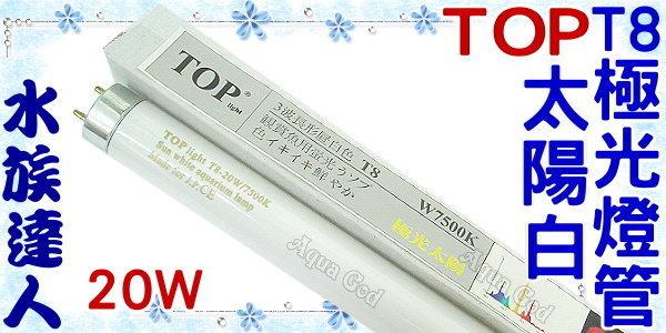 【水族達人】TOP《T8極光燈管(太陽白).7500K(20W)》超明亮!