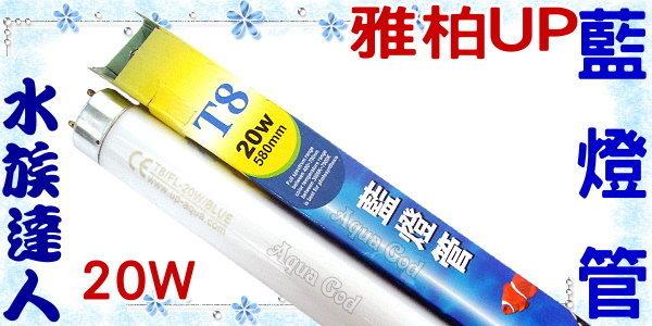【水族達人】雅柏UP《T8藍燈管.20W》知名品牌、大眾價格!
