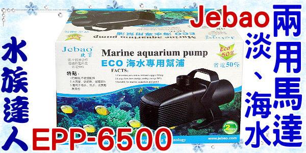 【水族達人】捷寶Jebao《淡海水兩用馬達.EPP-6500》水陸兩用馬達/ 沉水馬達