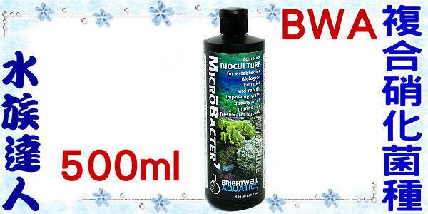 【水族達人】BWA《複合硝化菌種.500ml.W071》快速建立過濾系統 / 淡海水皆可用