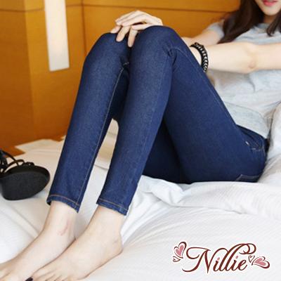 Nillie‧低腰彈力緊身顯瘦鉛筆牛仔褲(黑/藍) 11/10 ONE TONE STYLE【N90013】現+預