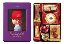 日本進口高帽子喜餅 紫帽7種禮盒(新)100g  現貨