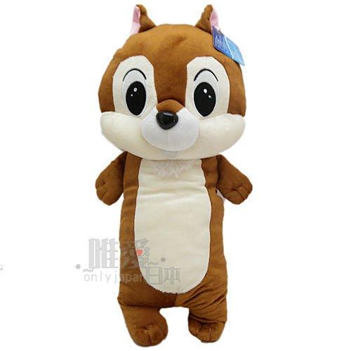【真愛日本】14071300002  4號全身長抱枕40cm奇奇尼 花栗鼠 奇奇蒂蒂 松鼠