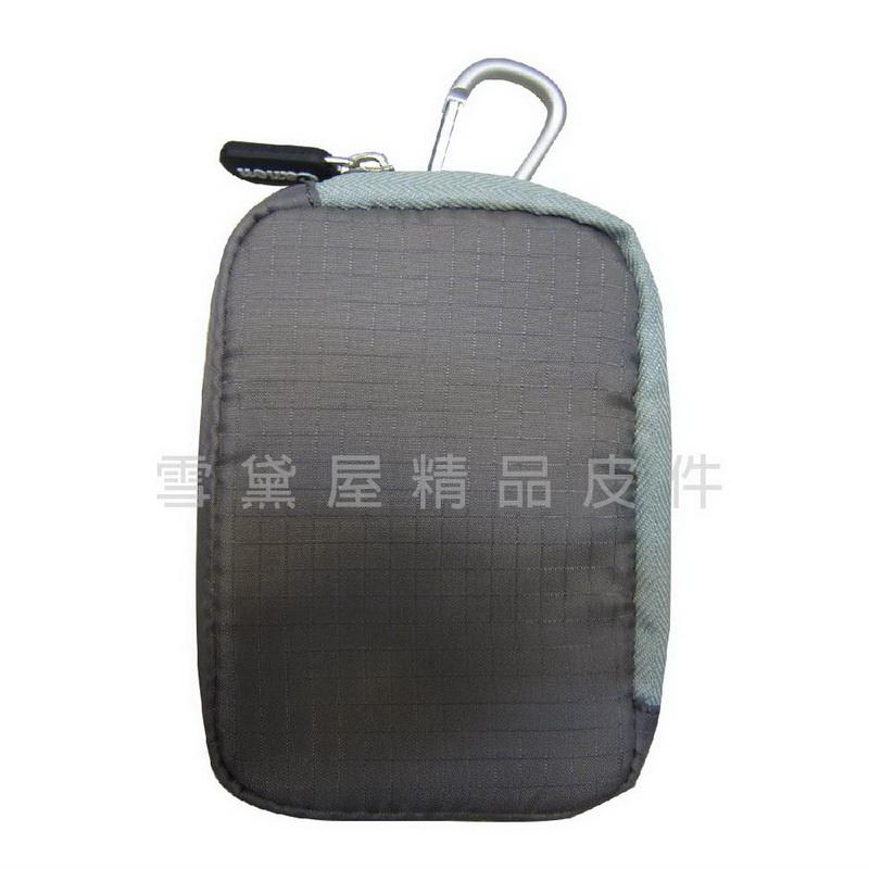 ~雪黛屋~Canon保護套腰掛包腰包隨身物品專用防水尼龍布材質L型拉鍊開口設計主袋口 #5044灰