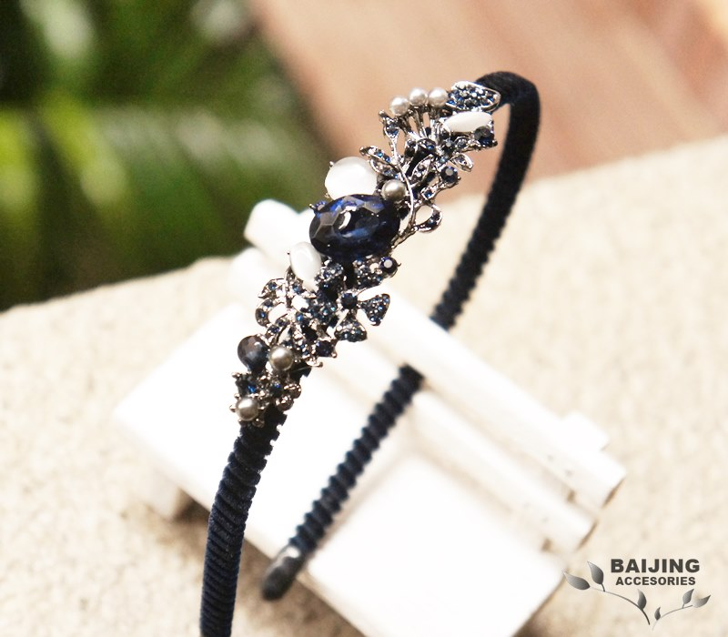 2054245【珍珠、寶石、水鑽珠寶風】髮箍