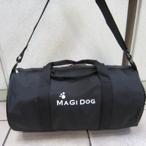 ~雪黛屋~MAGI-DOD 圓筒旅行袋MIT簡易型旅行袋防水尼龍布可壓扁收納不占空間手提肩背斜側 黑