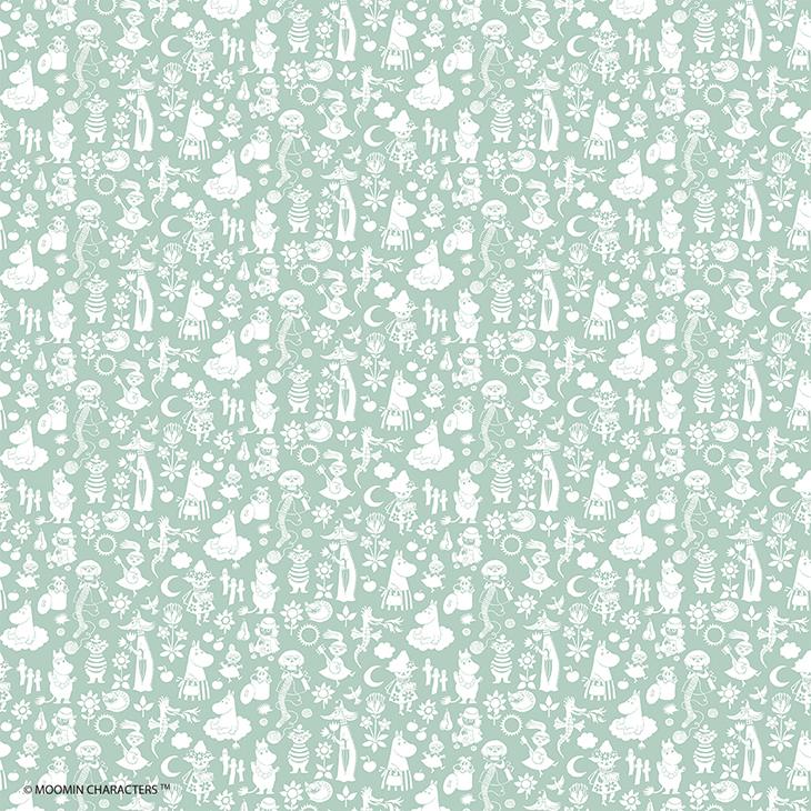 Moomin嚕嚕米 - 壁紙 / 壁畫:【 歡樂谷的慶賀(白) 】