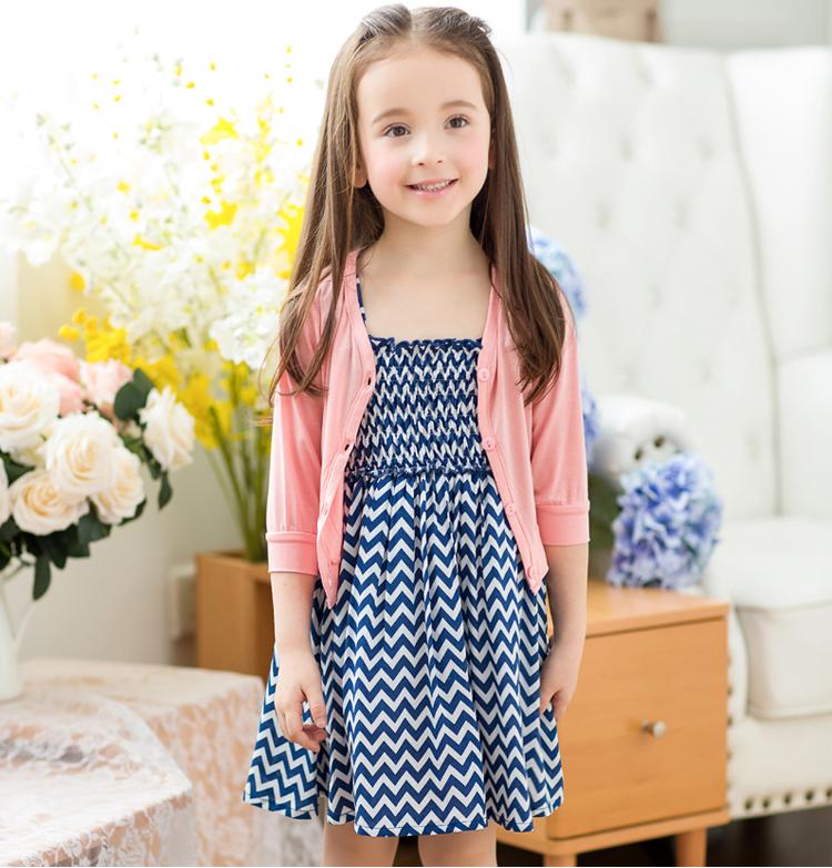 【貝貝樂SHOW】超薄冰絲棉七分袖開衫洋裝外套~可搭配如圖洋裝~粉色