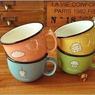 =優生活=韓國生活雜貨 zakka雜貨 小清新暖暖早餐杯子 咖啡杯 童趣杯子 馬克杯 牛奶杯