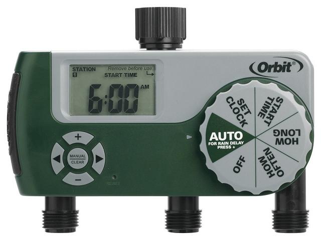 美國ORBIT三區自動定時灑水器綠色