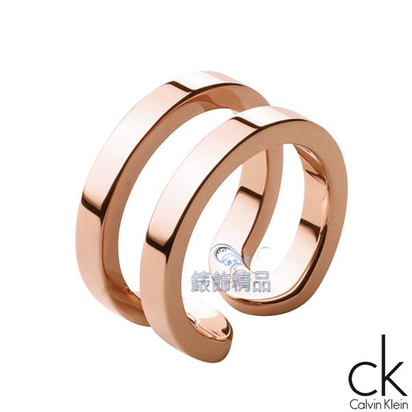 【錶飾精品】Calvin Klein CK飾品 ck戒指 return呼應系列-玫金 316L白鋼 KJ0ZPR0001全新原廠正品