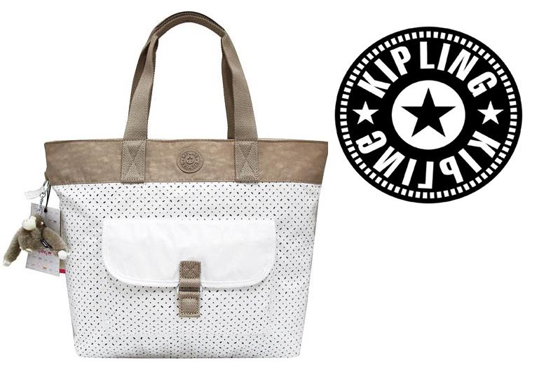 OUTLET代購【KIPLING】網洞雙色尼龍肩揹包 旅行袋 斜揹包 媽媽包